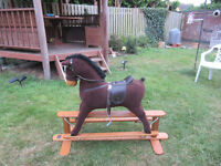 Lovely Mamas & Papas Wooden Rocking Horse