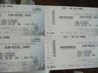 JEAN MICHEL JARRE LIVE AT THE SSE HYDRO GLASGOW------4 TICKETS----SEATED