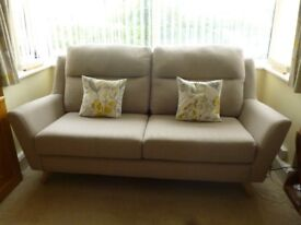 FABB fabric sofa suite in MINK. 4 piece. Immaculate. 8 months old. OFFERS CONSIDERED