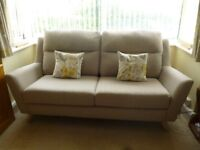 FABB fabric sofa suite in MINK. 4 piece. Immaculate. 8 months old.