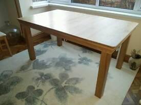 French Farmhouse Oak Extending Dining Table - 150 - 200cm