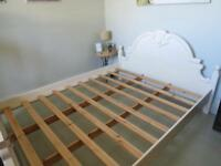 King size wooden bedstead