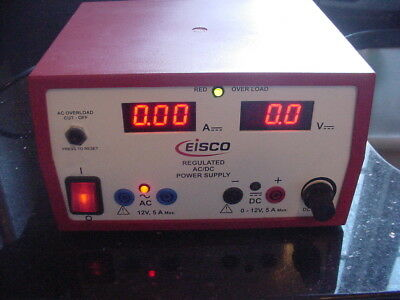 Eisco Regulated 12 Volt Ac Dc 5 Amp Power Supply 12v 5a Acdc Epr 1331