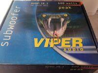 Viper audio 600w sub NEW BOXED