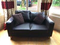 Small faux leather sofa