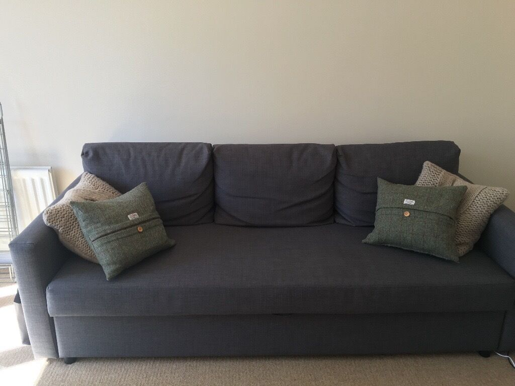 3 seater ikea sofa bed grey only 6 months old friheten in chichester west sussex gumtree. Black Bedroom Furniture Sets. Home Design Ideas
