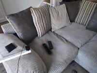 Grey large corner sofa from harveys