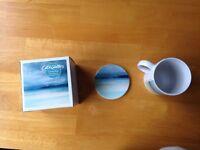 Cath Waters Ceramic mug and coaster