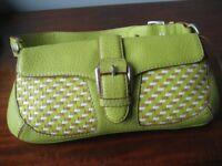 Handbag, Leather Designer Michael Kors Summer Citrus Green