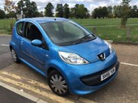 peugeot 107 automatic /60k mileage only 2 owners /£20 road tax a year