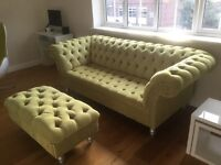 Stunning Modern Chesterfield Sofa and Matching Footstool