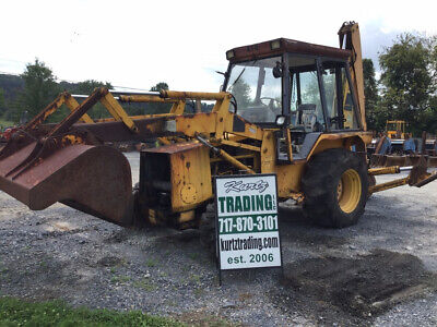 1986 Jcb 1400b 4x4 Tractor Loader Backhoe Needs Repair