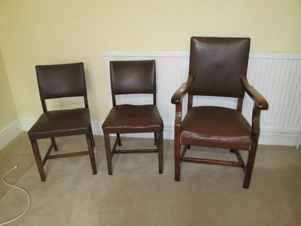 Superb Set of three leather chairs - PRICE REDUCED !!