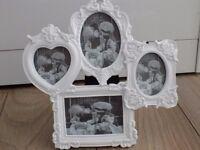 Shabby Chic White Photo Frame