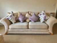 DFS CREAM 4 SEATER, 3 SEATER, CHAIR AND STORAGE POUFEE