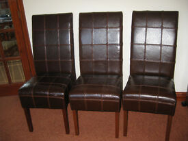 Leather Dining Chairs.