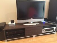 """Panasonic viera 32"""" lcd tv with stand and 2 matching cabinets"""