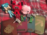 Mine craft assorted toys & books