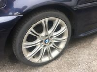 4 BMW 18 INCH ALLOY WHEELS WITH TYRES 255/35 ZR 18