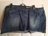 Designer Mantaray size 20, Denim Mini Skirt