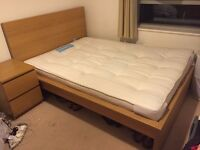 URGENT - IKEA Malm standard double bed and firm double mattress