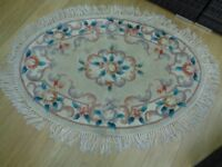 Oval Chinese Wool Rug