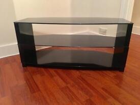 *QUICK SALE* Modern black glass tv stand