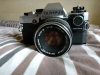 Olympus OM-10 35mm Manual Focus Film Camera And Lens Combo