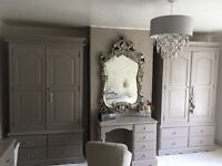 2 wardrobes for sale with draws below