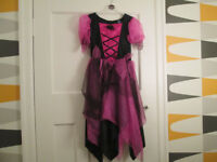 GIRLS HALLOWEEN DRESSES X2 - AGE 5-8 / 9