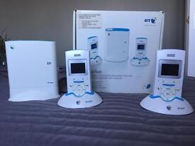 BT Aqua DECT Twin Digital Cordless Telephone with Answering Machine - White & Aqua by BT