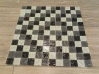 Brand new, 100 Rippled effect mosaic tiles, 320mm squared