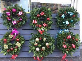 Holly wreaths