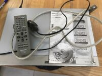 Panasonic DVD-S75 DVD/CD Player with remote and scart cable
