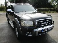 2009 FORD RANGER 3.0 WILDTRAK TDCi DOUBLE CAB 4X4 FULL MOT FSH SAT NAV LEATHER TOW BAR DVD PX SWAPS