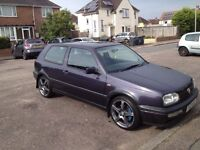 Golf GTI mark 3 only 90000 miles no advisorys full service very clean not a drop of rust on it