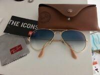 Amazing Ray-ban sunglasses rob 3025 aviator large metal matte gold/blue