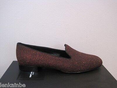 YSL Yves Saint Laurent Rouge Orient Glitter Slipper Flats Shoes $725 40 10