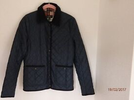 TOPSHOP Quilted Navy Jacket, size 6 (As new)