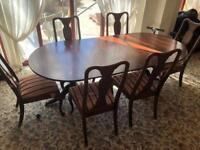 Period Dining Table and 6 Chairs Set