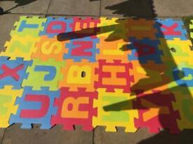 Foam letter jigsaw