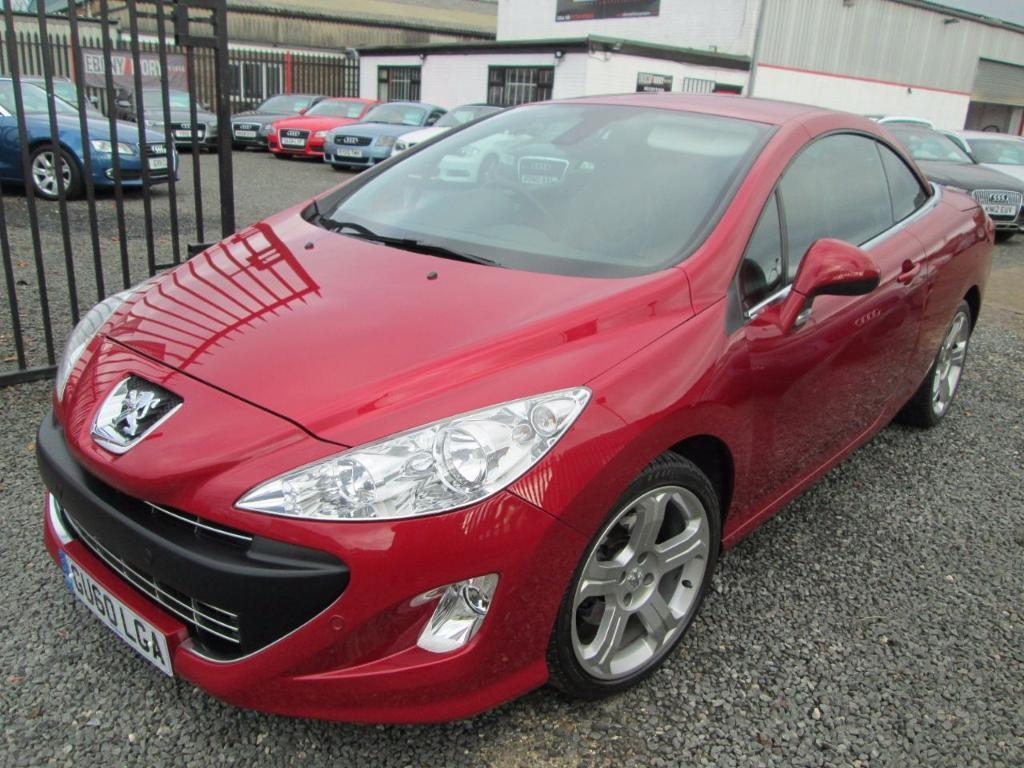 Peugeot 308 2.0 HDi GT 2dr AUTO + BLACK HEATED LEATHER + FULL SERVICE HISTORY (red) 2010