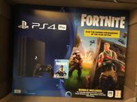 PS4 Pro 1TB + Fortnite DLC - Brand New / Sealed
