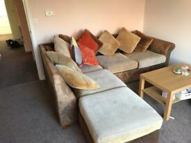 Must have Corner sofa with foot rest and pull out double bed