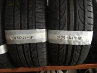 225 40 18 part worn tyres 5+mm of tread ** FREE FITTING AND BALANCING **