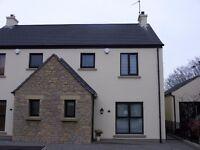 To Let -- Luxury 3 Bed semi -Detached Eglinton village £135 PER WK