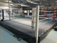 boxing rings for sales, plus full gym equipment, email for viewing day details