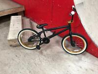 BMX bike - gold white and black