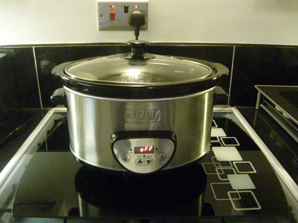 SILVER SLOW COOKER LARGE