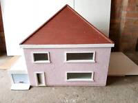LARGE DOLLS HOUSE WITH GARAGE